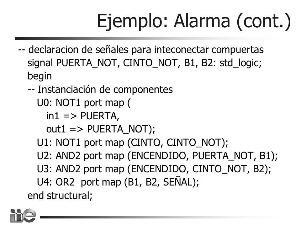 Ejemplo: Alarma (cont.)
