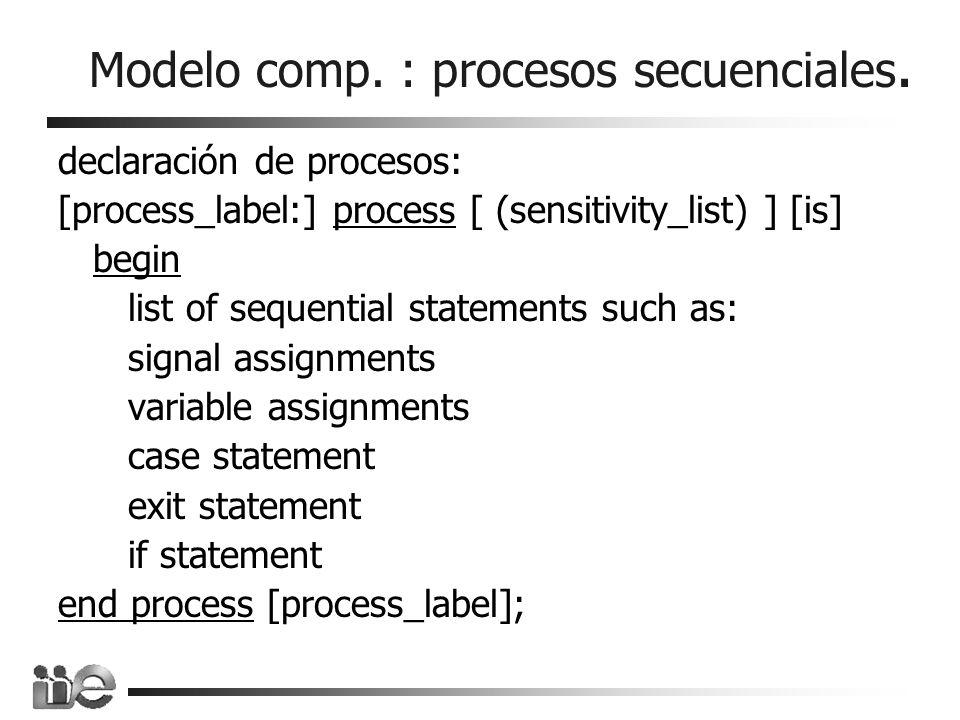 Modelo comp. : procesos secuenciales.