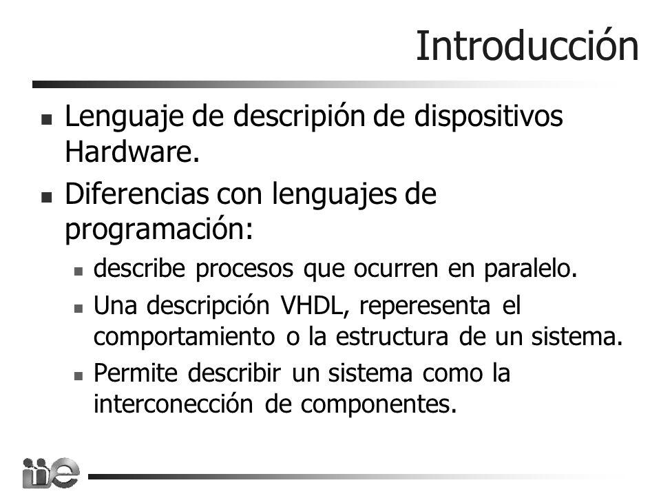 Introducción Lenguaje de descripión de dispositivos Hardware.