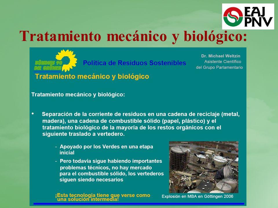 Tratamiento mecánico y biológico: