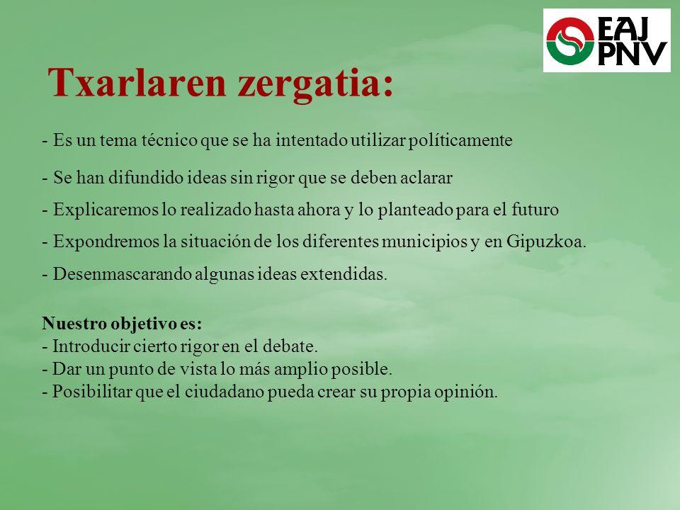 Txarlaren zergatia: Es un tema técnico que se ha intentado utilizar políticamente. Se han difundido ideas sin rigor que se deben aclarar.
