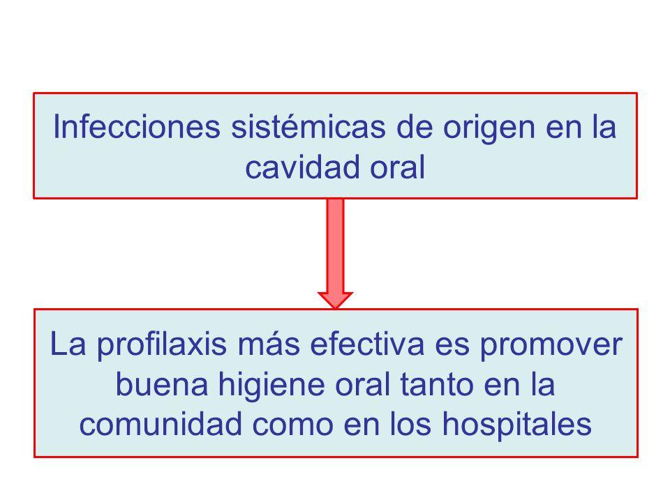 Infecciones sistémicas de origen en la cavidad oral