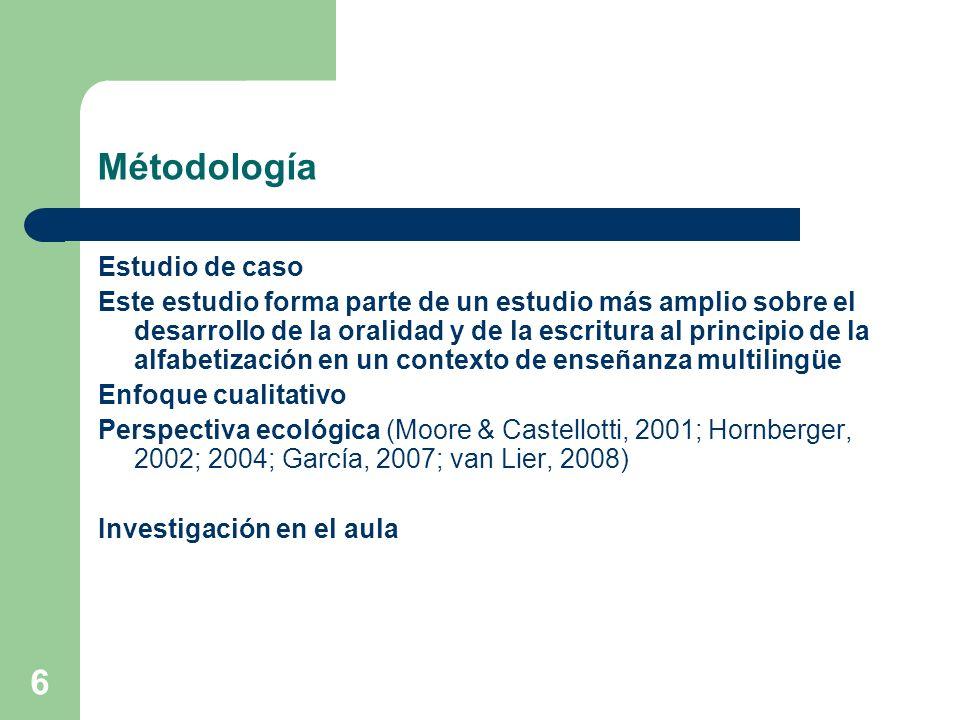Métodología Estudio de caso