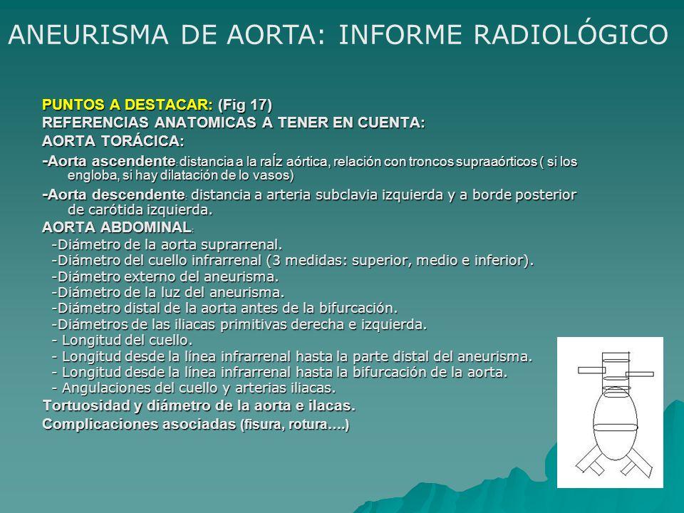 ANEURISMA DE AORTA: INFORME RADIOLÓGICO