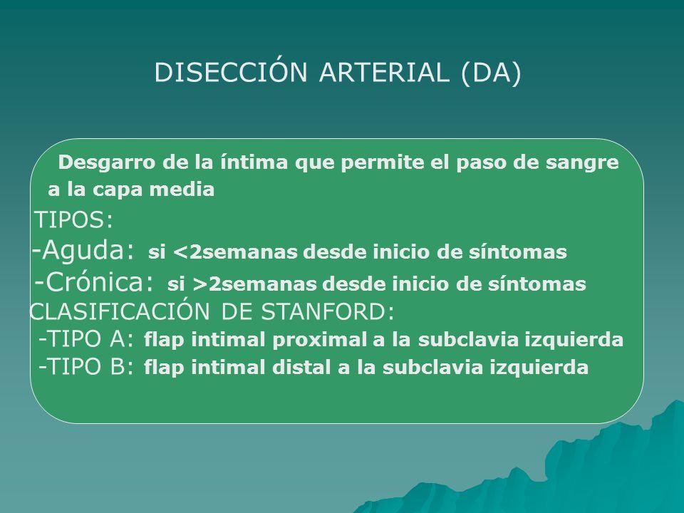 DISECCIÓN ARTERIAL (DA)