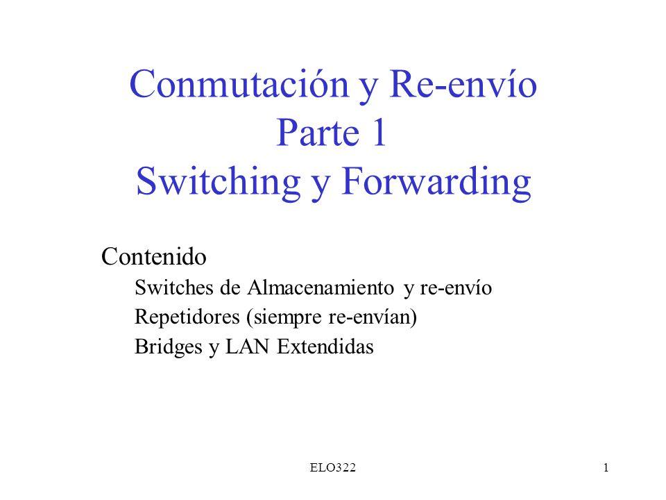 Conmutación y Re-envío Parte 1 Switching y Forwarding