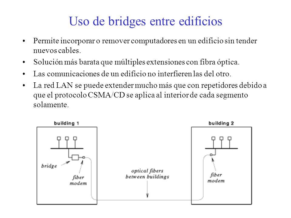 Uso de bridges entre edificios