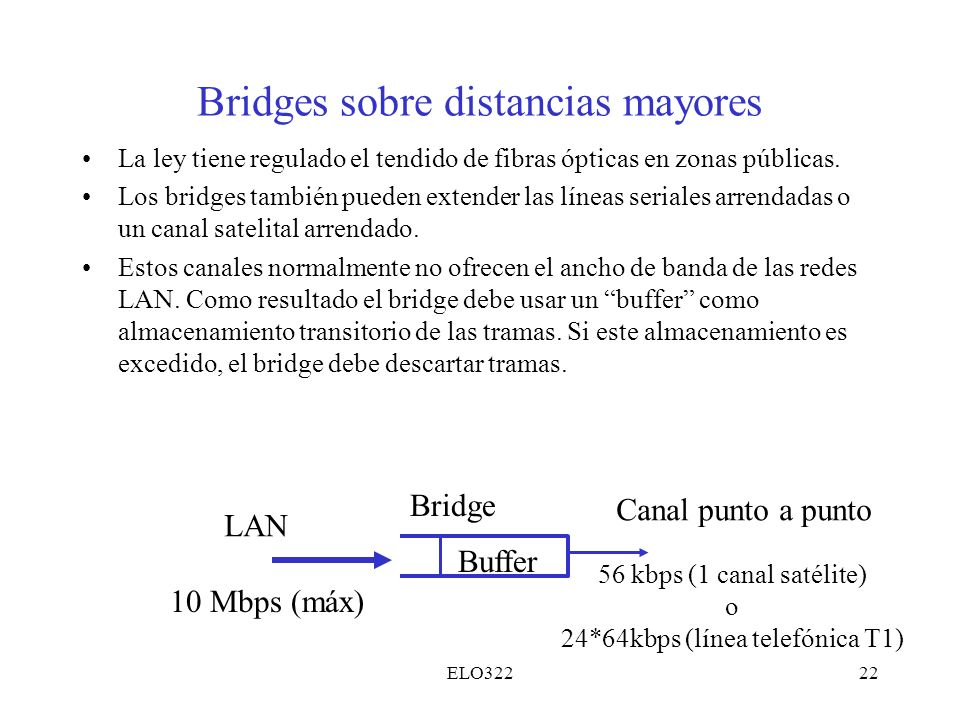 Bridges sobre distancias mayores