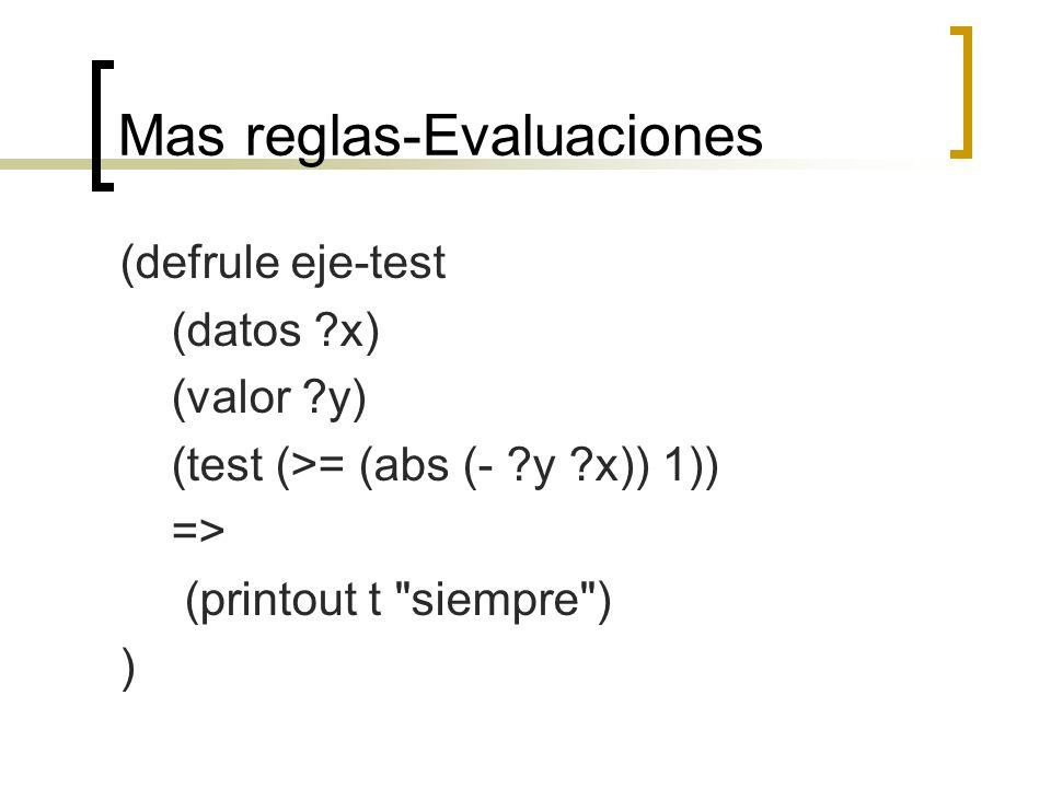 Mas reglas-Evaluaciones