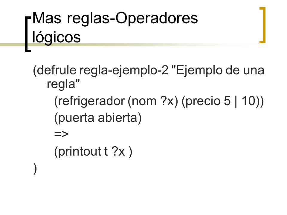 Mas reglas-Operadores lógicos