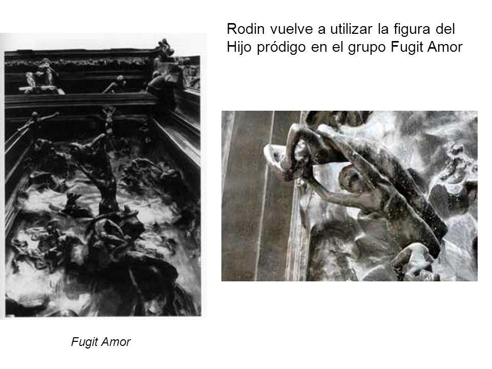 Rodin vuelve a utilizar la figura del Hijo pródigo en el grupo Fugit Amor