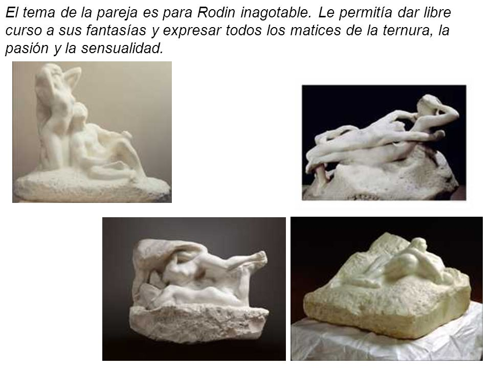 El tema de la pareja es para Rodin inagotable