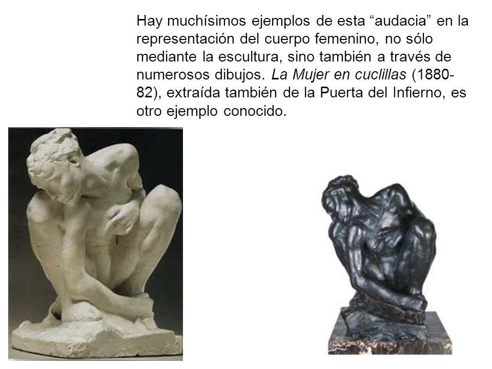 Hay muchísimos ejemplos de esta audacia en la representación del cuerpo femenino, no sólo mediante la escultura, sino también a través de numerosos dibujos.