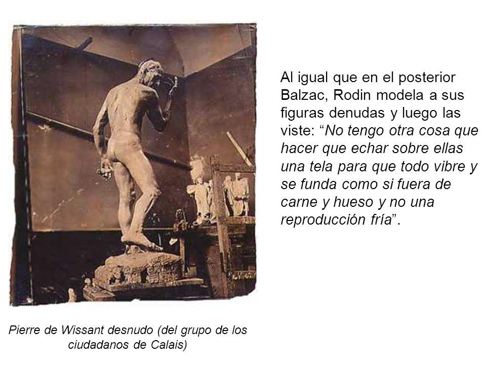 Pierre de Wissant desnudo (del grupo de los ciudadanos de Calais)