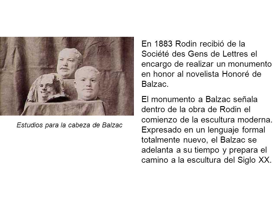 Estudios para la cabeza de Balzac