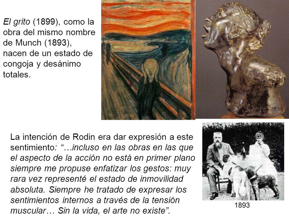 El grito (1899), como la obra del mismo nombre de Munch (1893), nacen de un estado de congoja y desánimo totales.