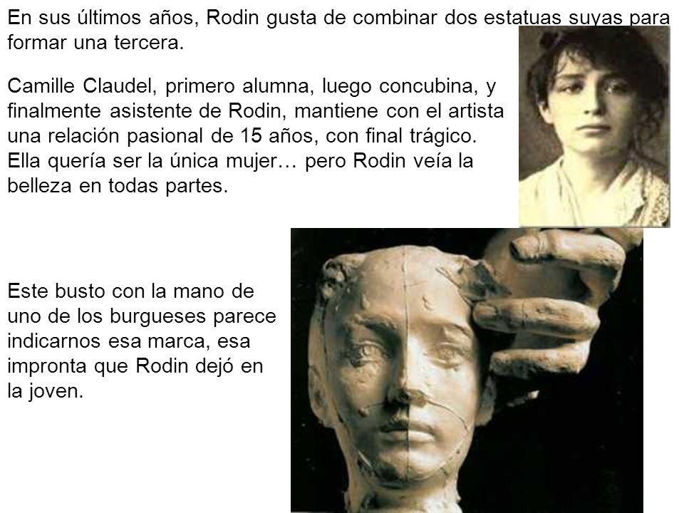 En sus últimos años, Rodin gusta de combinar dos estatuas suyas para formar una tercera.