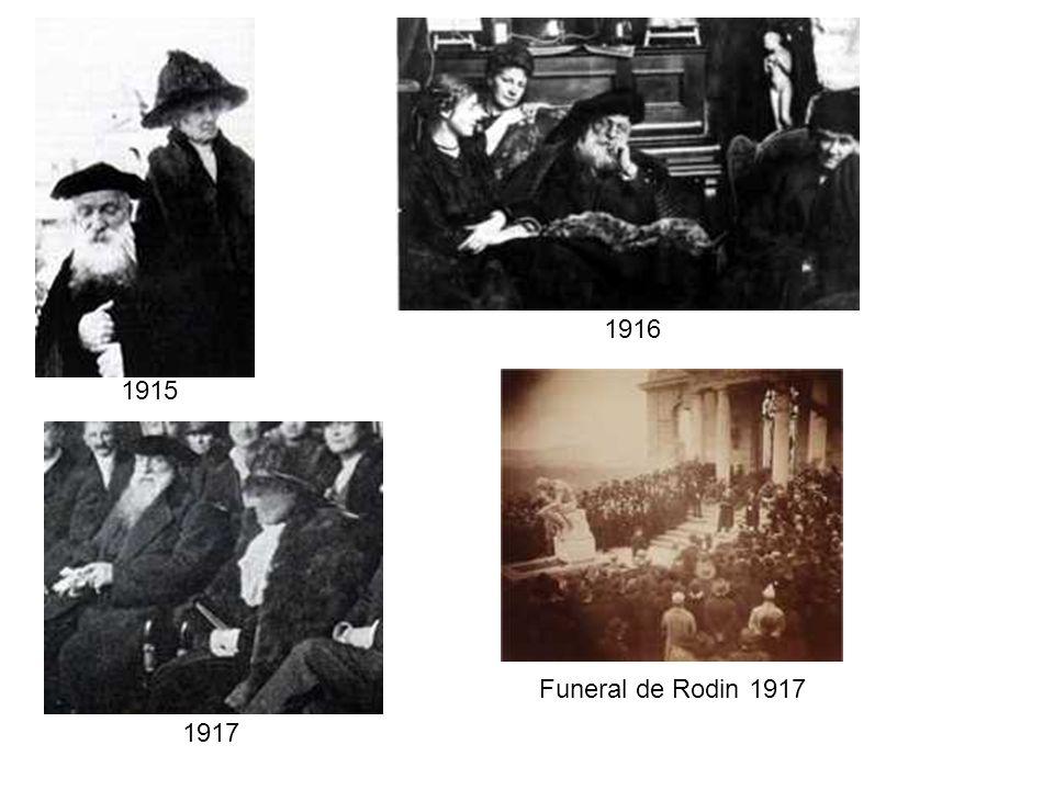 1916 1915 Funeral de Rodin 1917 1917