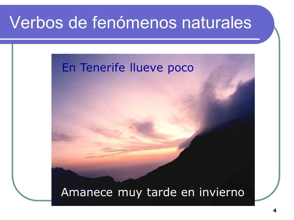 Verbos de fenómenos naturales