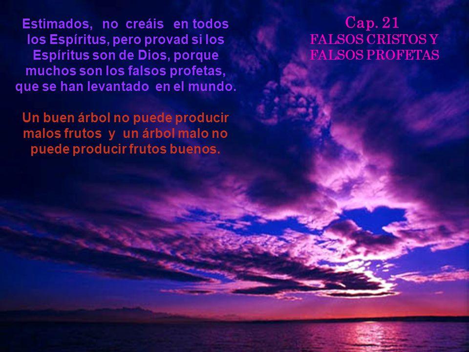 Cap. 21 FALSOS CRISTOS Y FALSOS PROFETAS
