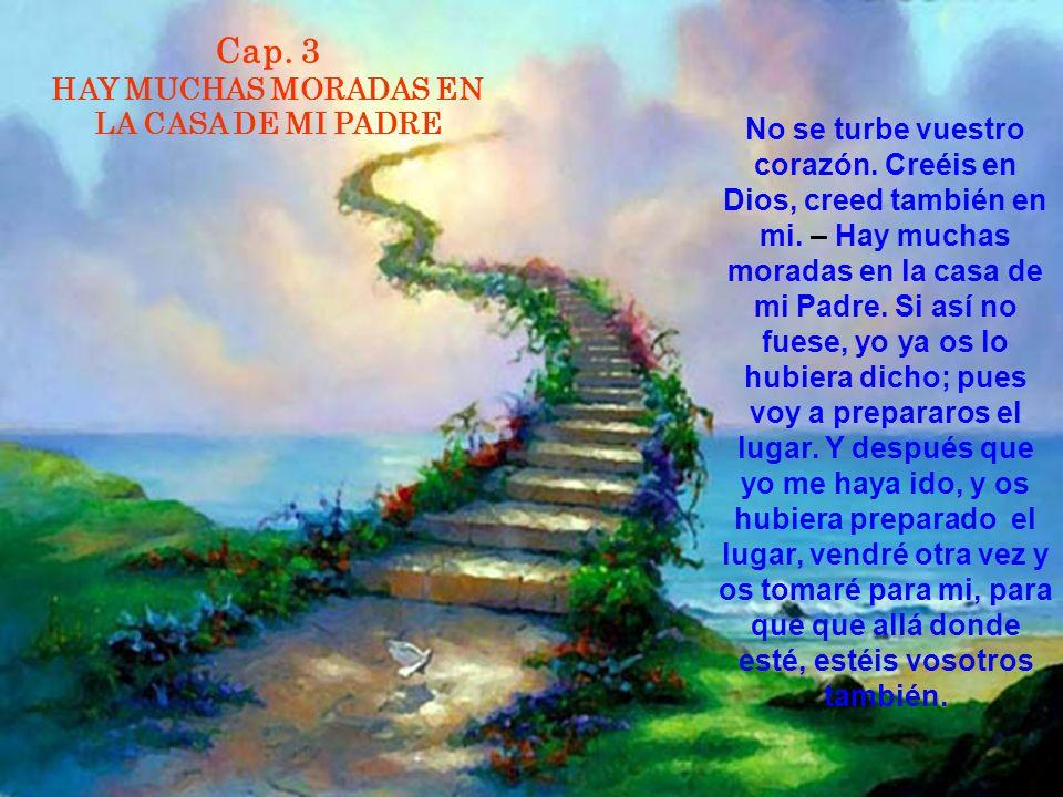 Cap. 3 HAY MUCHAS MORADAS EN LA CASA DE MI PADRE