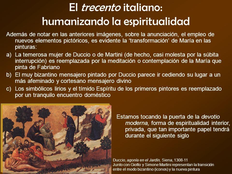 El trecento italiano: humanizando la espiritualidad