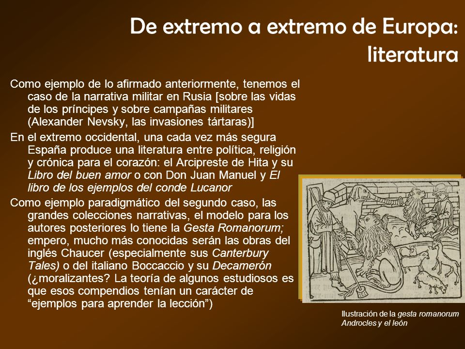 De extremo a extremo de Europa: literatura