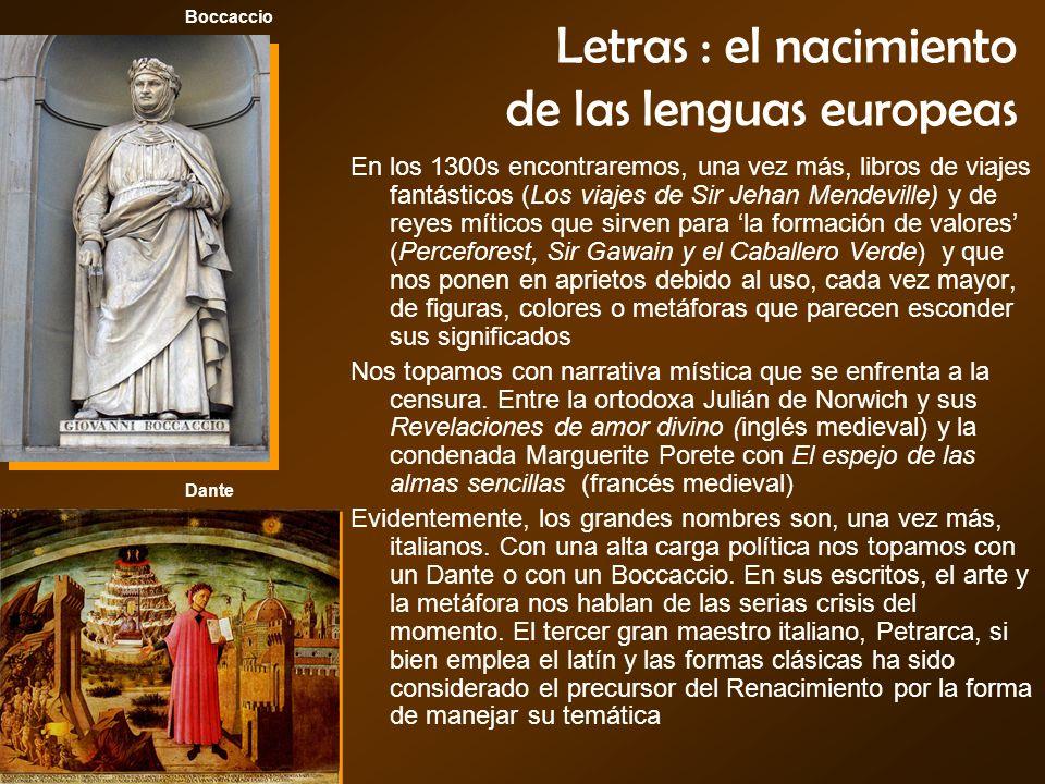 Letras : el nacimiento de las lenguas europeas