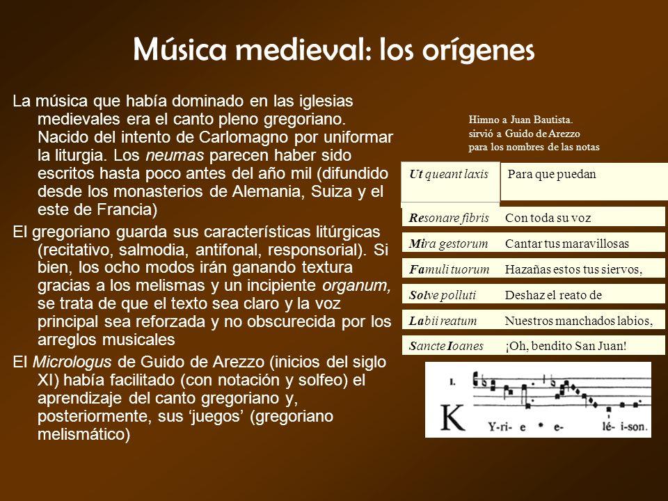 Música medieval: los orígenes