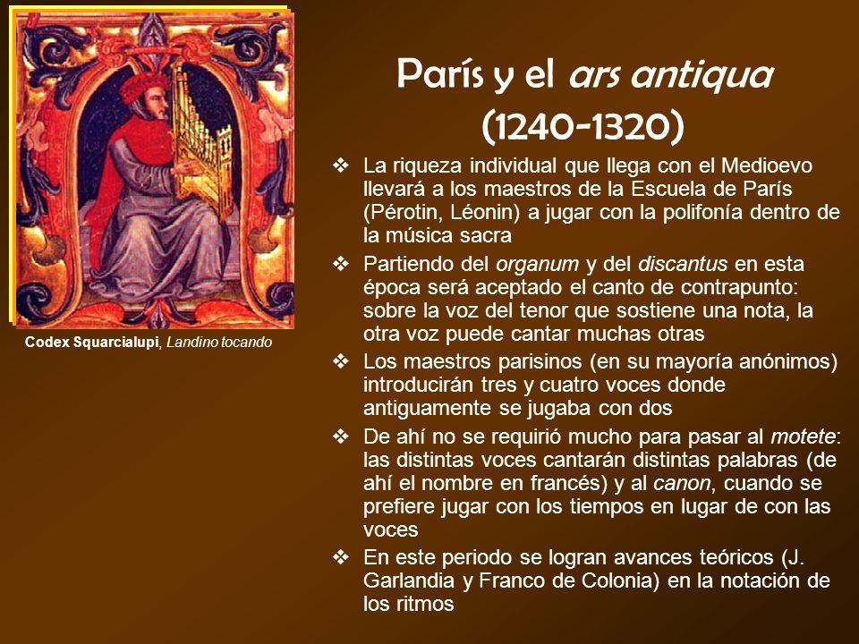 París y el ars antiqua (1240-1320)