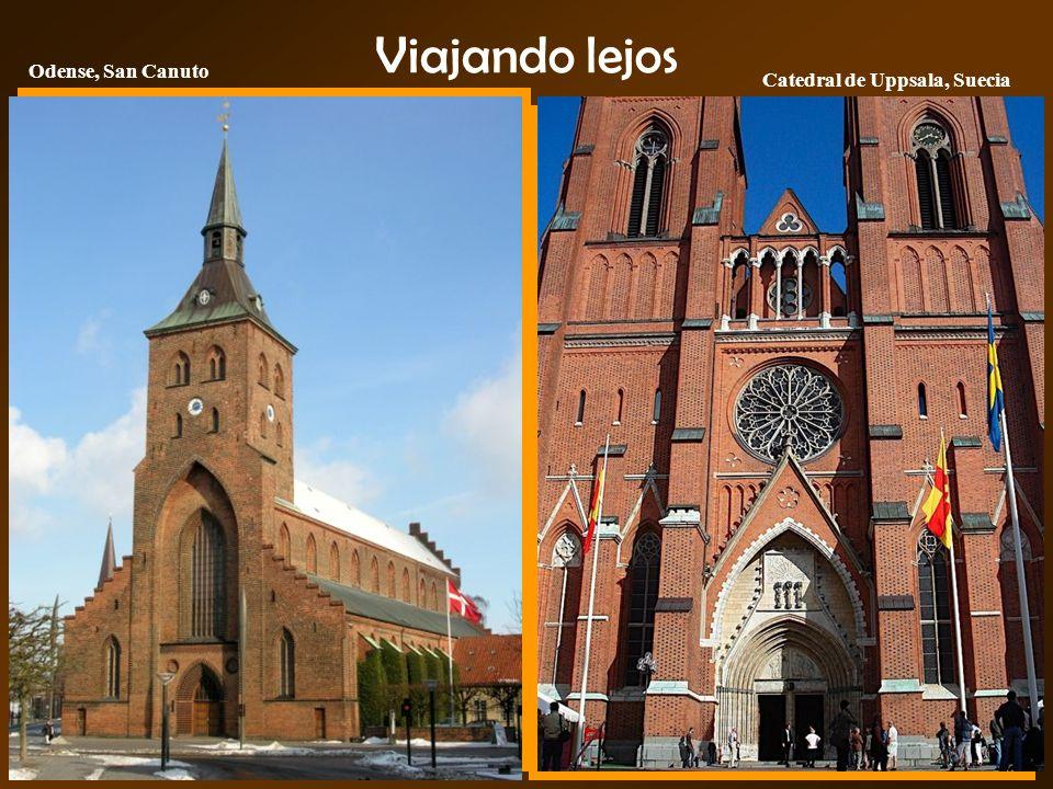 Viajando lejos Odense, San Canuto Catedral de Uppsala, Suecia