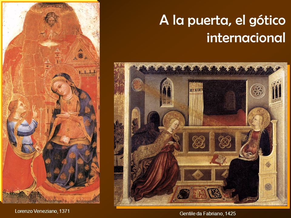 A la puerta, el gótico internacional