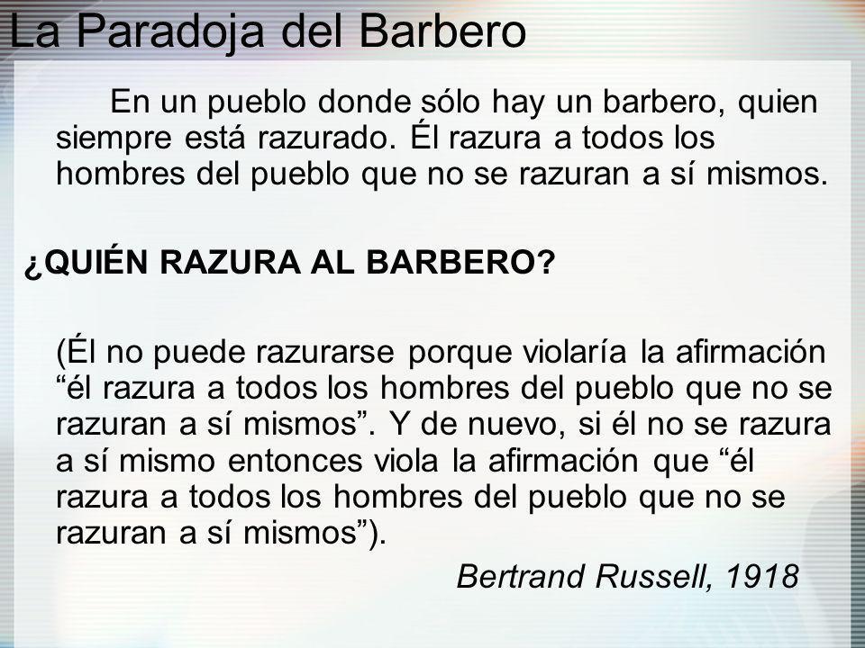 La Paradoja del Barbero