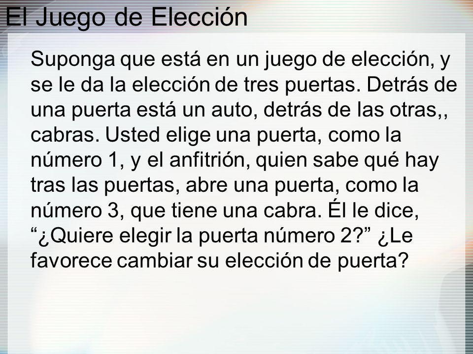 El Juego de Elección