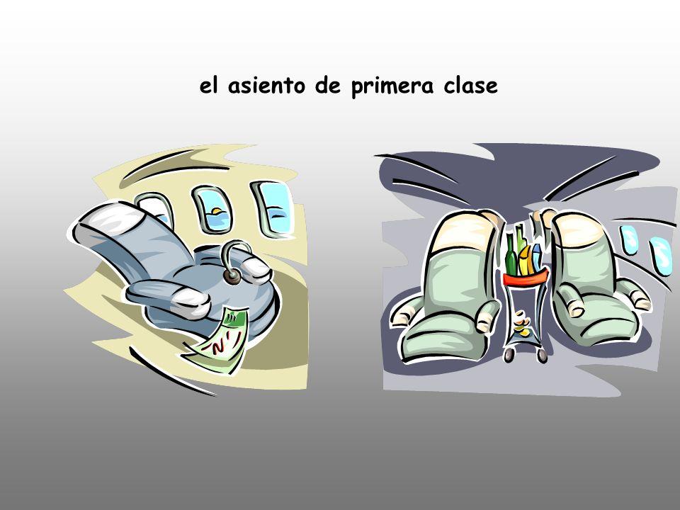 el asiento de primera clase