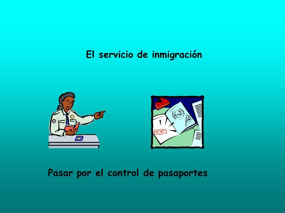 El servicio de inmigración