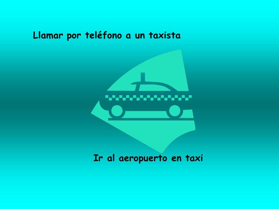 Llamar por teléfono a un taxista