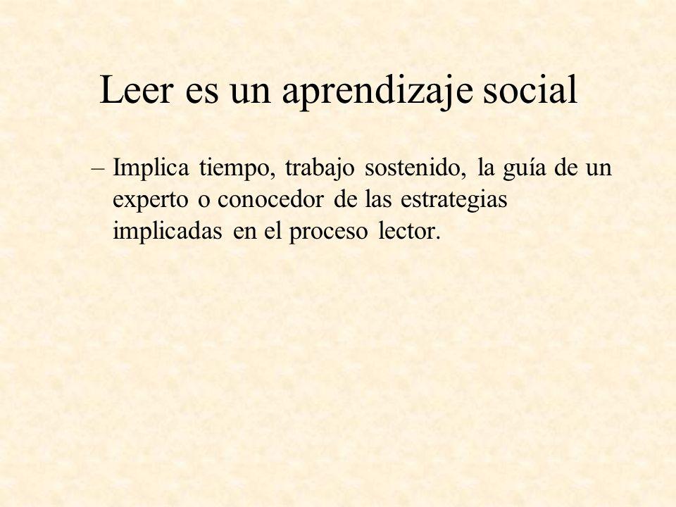 Leer es un aprendizaje social