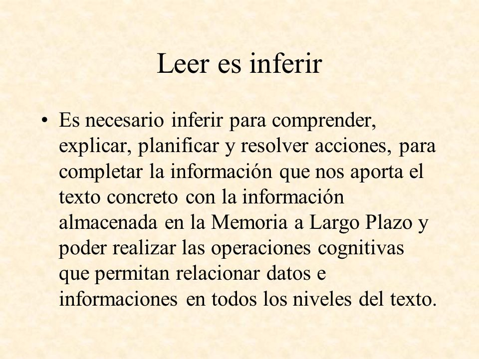 Leer es inferir