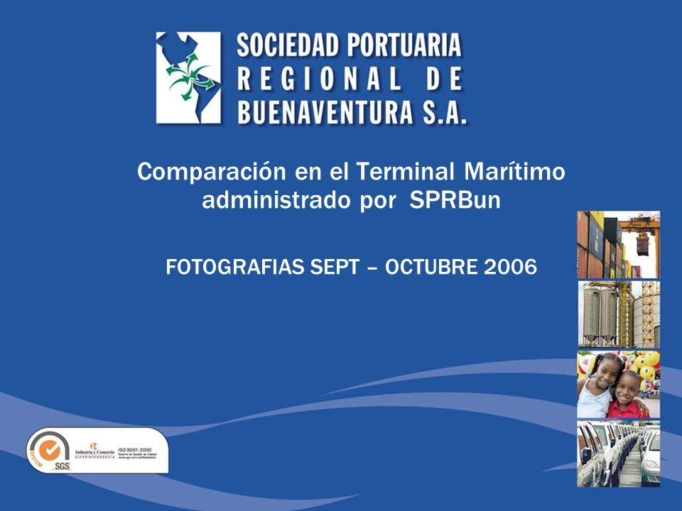 Comparación en el Terminal Marítimo administrado por SPRBun