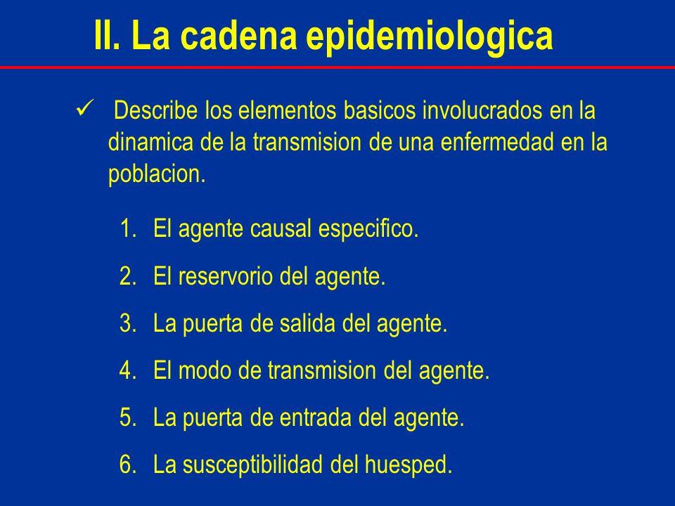 II. La cadena epidemiologica
