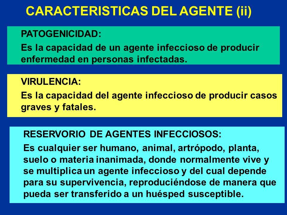 CARACTERISTICAS DEL AGENTE (ii)