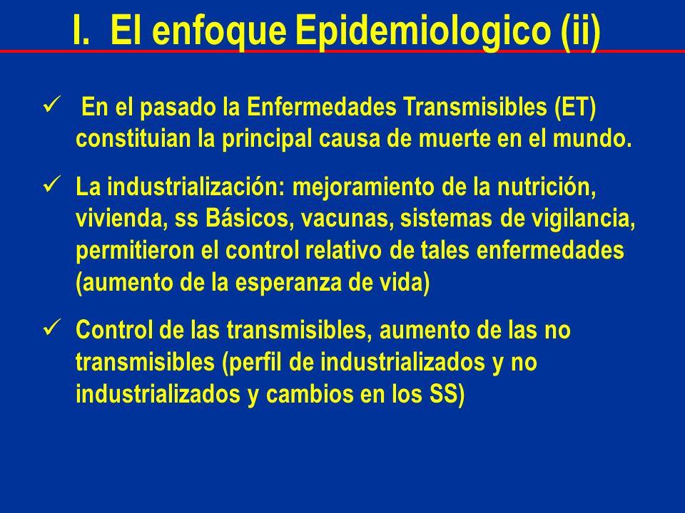 I. El enfoque Epidemiologico (ii)