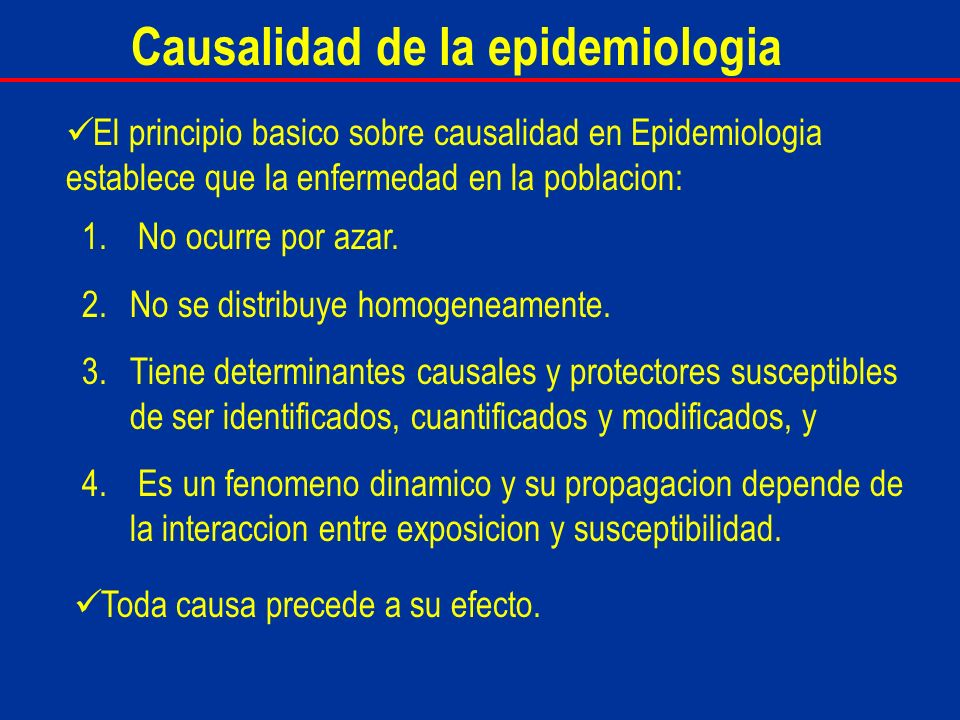 Causalidad de la epidemiologia