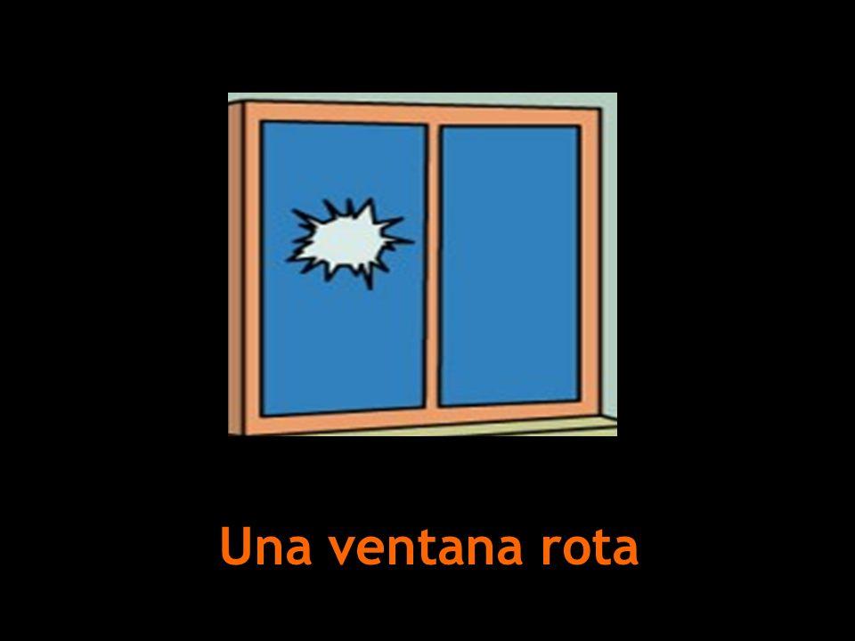 Una ventana rota