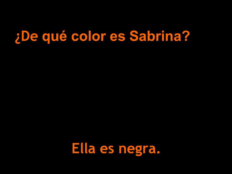 ¿De qué color es Sabrina