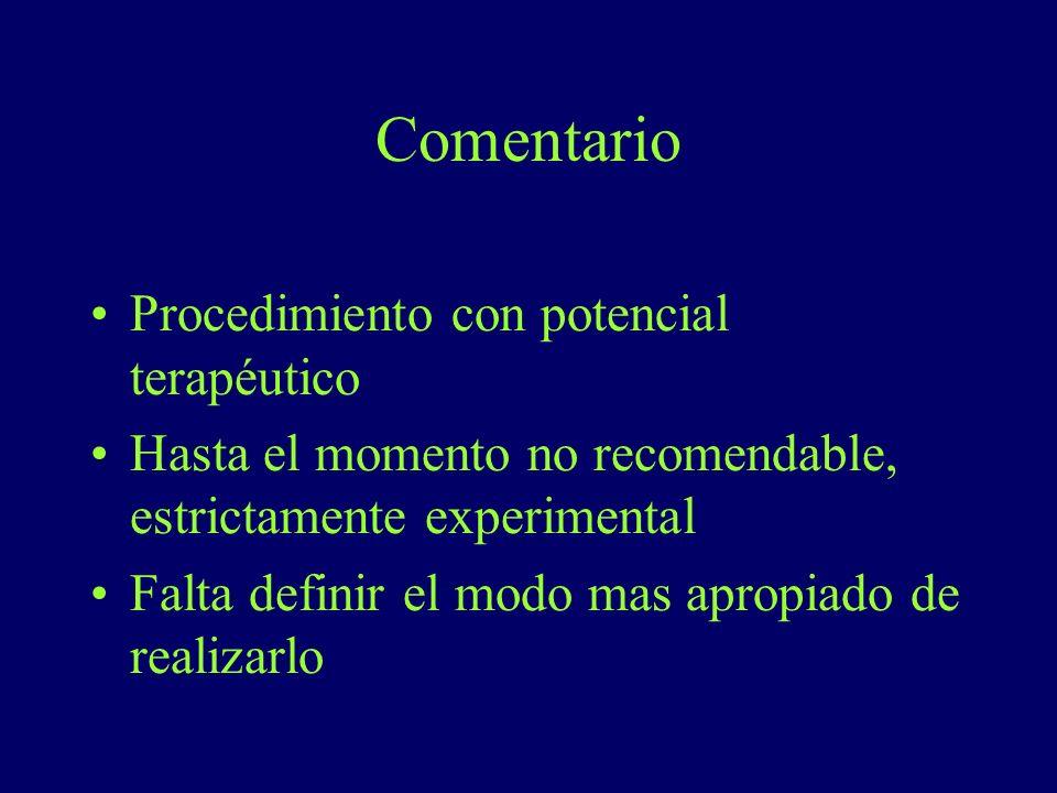 Comentario Procedimiento con potencial terapéutico