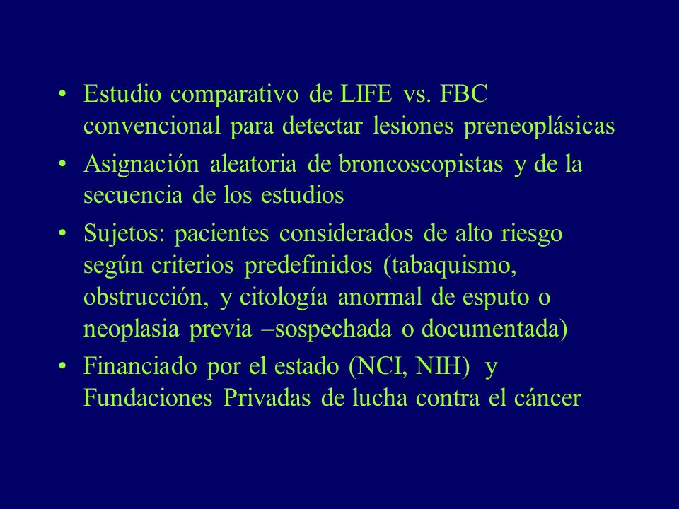Estudio comparativo de LIFE vs