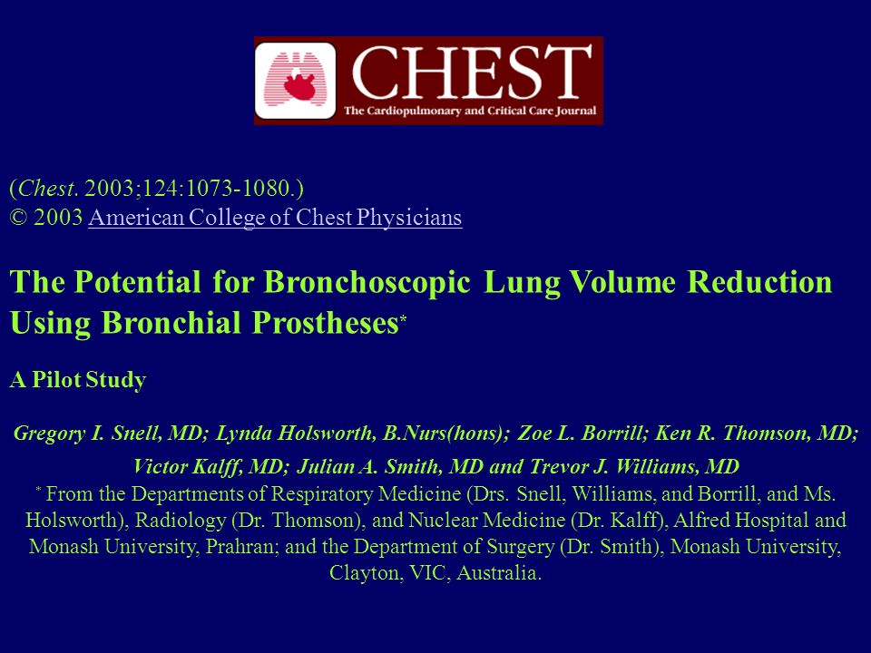 (Chest. 2003;124:1073-1080.) © 2003 American College of Chest Physicians