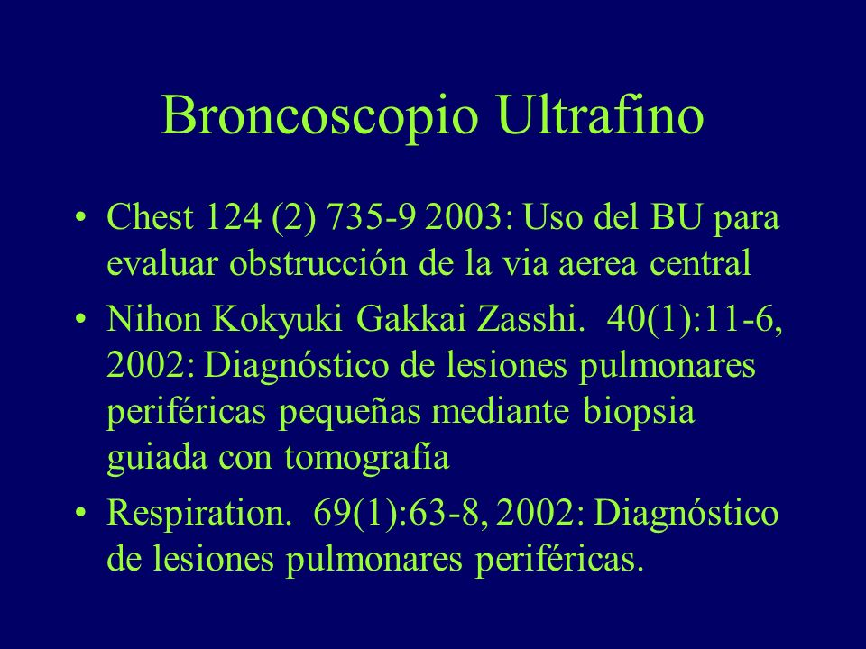 Broncoscopio Ultrafino